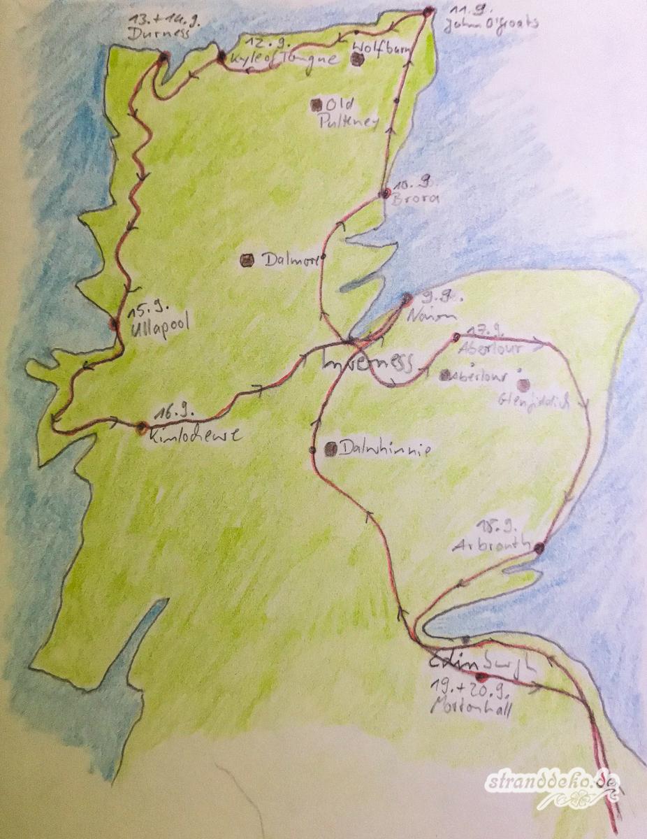 Schottland Karte 3313 - Schottland 2018 - I - Auf zur North Coast