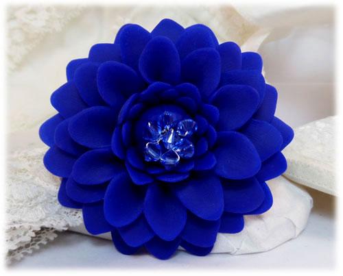 Blue Chrysanthemum Brooch Jewelry Stranded Treasures