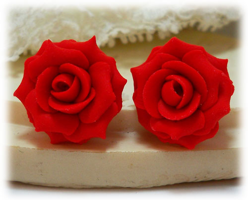 Red Rose Earrings Stud Drop And Dangle Styles