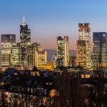 The Frankfurt Skyline winter 2015