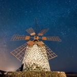 Die Molino de Tefia bei Nacht