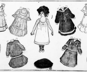 Paper Doll Cut Out From 1903