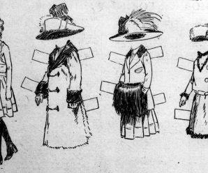 Winter Coats Paper Doll
