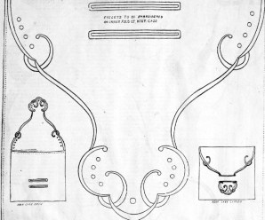 Embroidery Design for Handkerchief Case and Pin Ball From 1915