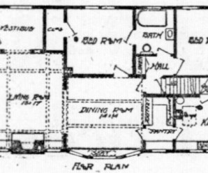 Two Bedroom One Floor House Plan From 1920