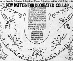 Embroidery Pattern For Decorated Collar From 1918