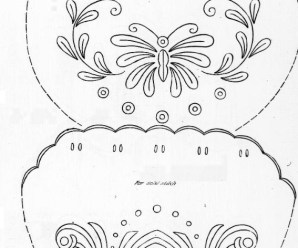 Design For Embroidered Bags From 1909