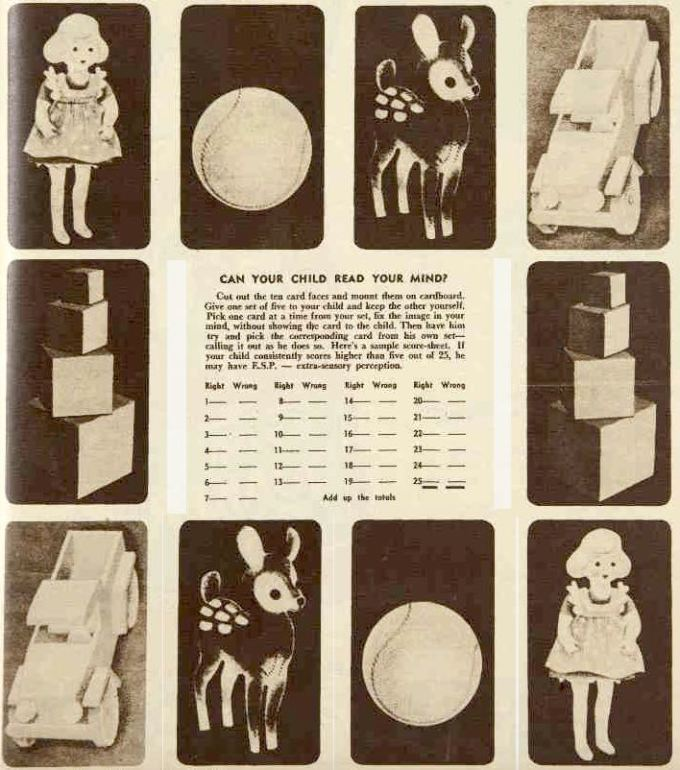 Child Test for Psychic Abilities from 1961 - StrangeAgo
