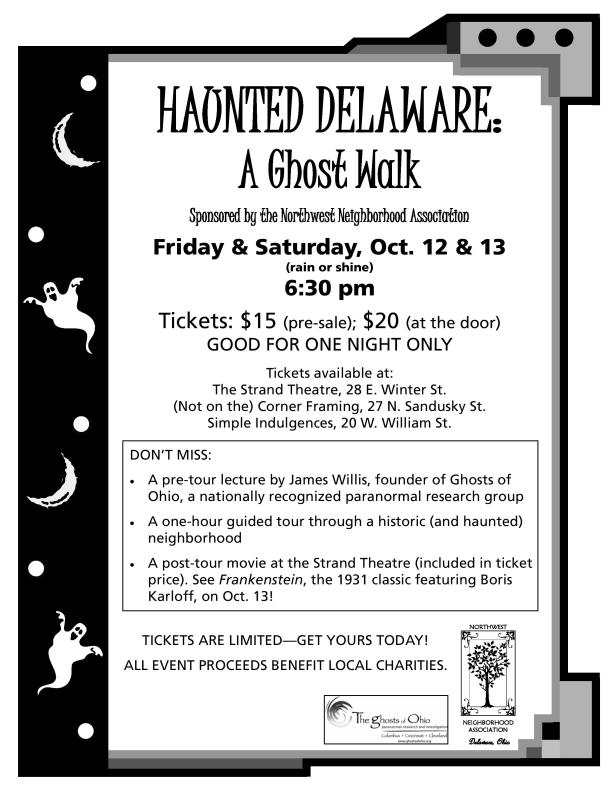 Promotional flyer for the event