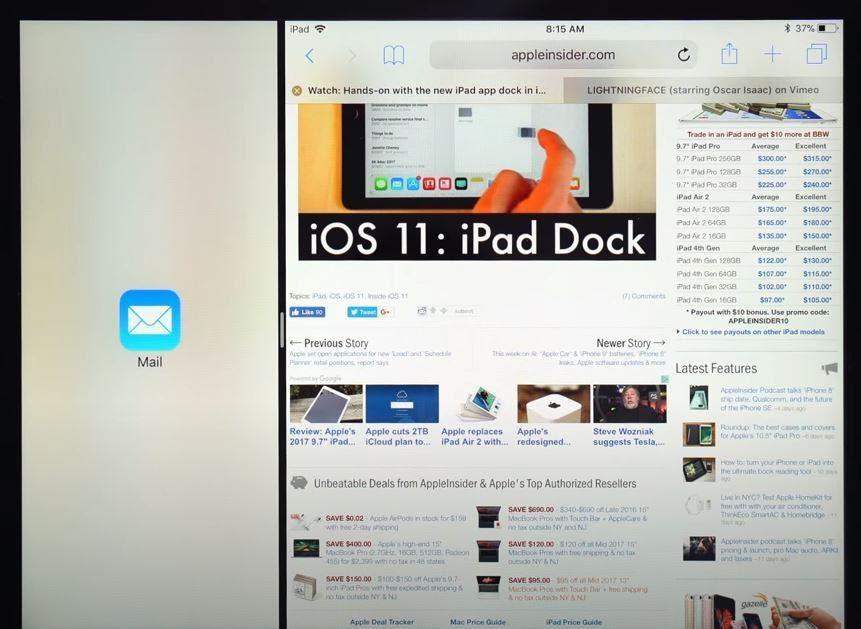 Split Screen problem in iPad