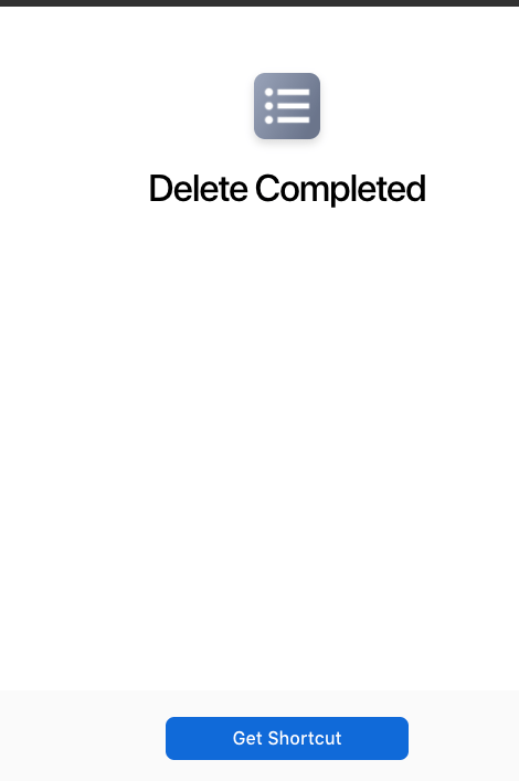 delete completed