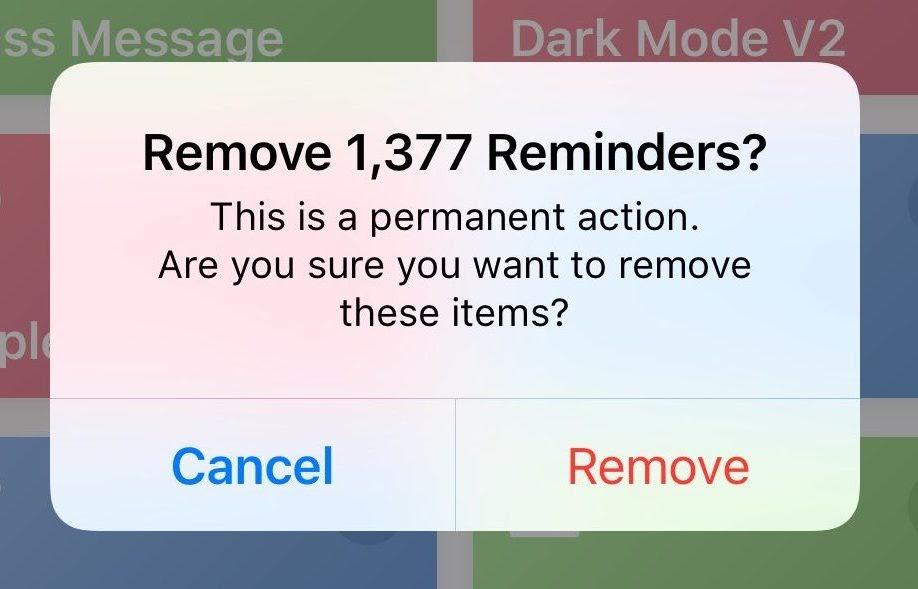 remove reminders