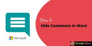 Hide Comments in Word