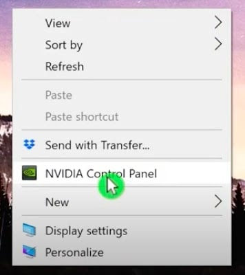 NVIDIA Control Panel