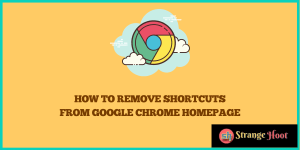 Remove Shortcuts From Google Chrome Homepage
