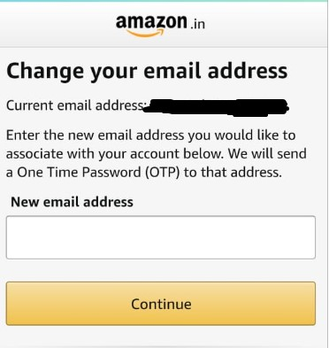 change your email and select continue and save once done
