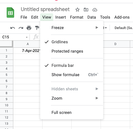 Select view from menu and uncheck gridlines