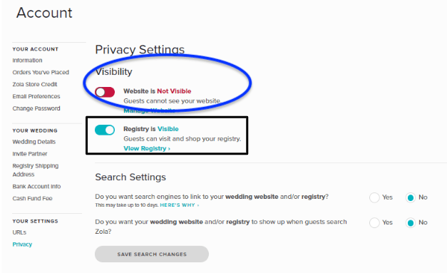 go to privacy settings and select website is not visible fro visibility