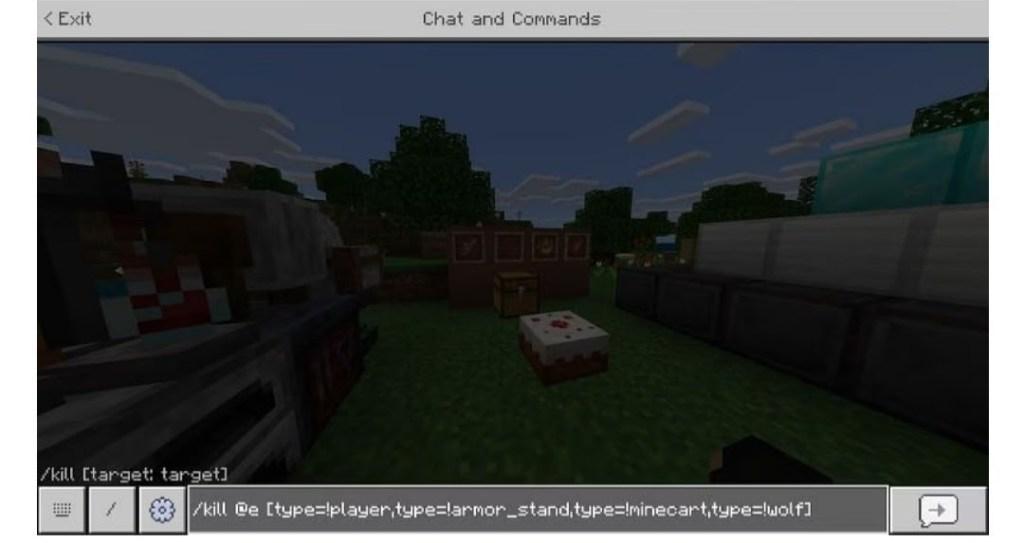 minecraft kill command to kill everything