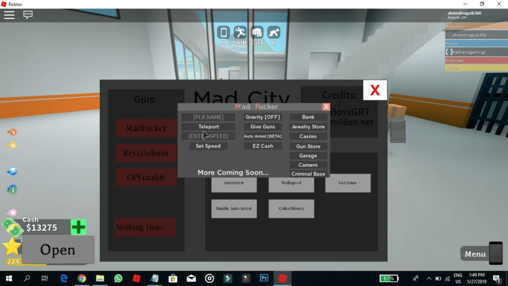 windows shows all the activities that you can participate