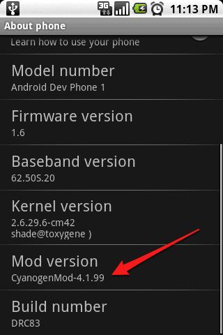 Mod version CynaogenMode-4.1.99