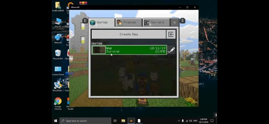 Minecraft Windows 10 edition worlds survival