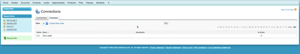 salesforce template page