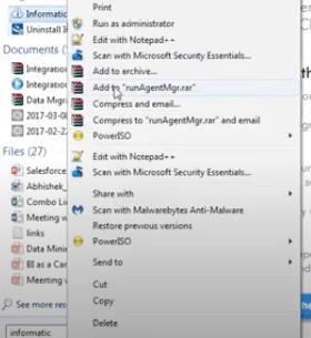 Salesforce run informatica as admin