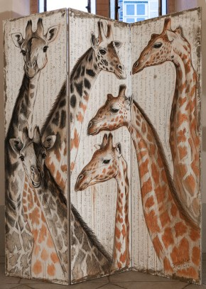 Paravent girafes