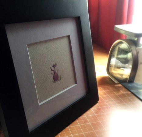 tiny dragon framed