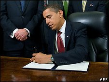 The executive order signals a sharp break with the Bush Administration