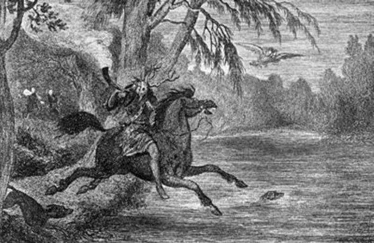 Χερν ο Κυνηγός, όπως εμφανιζόταν στο δάσος του Winsdor