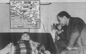Ο Ζανφρέττα κατά τη διάρκεια της ύπνωσης που διεξήχθη από τον Δρ. Μορέττι