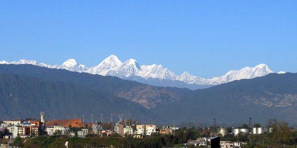'Αποψη των Ιμαλαΐων από την κοιλάδα του Κατμαντού
