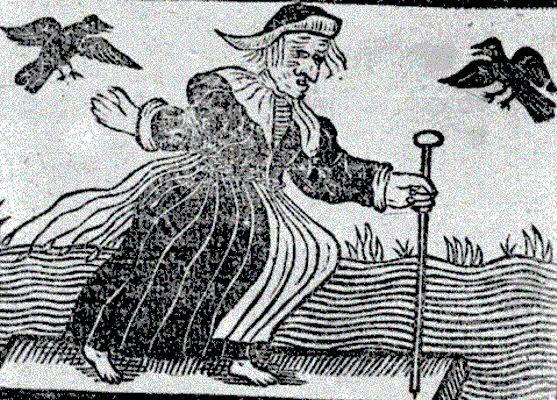 Χαρακτηριστική απεικόνιση μάγισσας του Μεσαίωνα