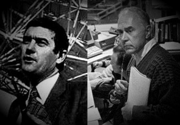 Οι αστρονόμοι Claude Poher (αριστερά) και Serge Koutchmy (δεξιά)