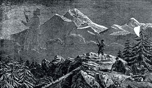 Το φαινόμενο, όπως αποδόθηκε σε γκραβούρα του 1890