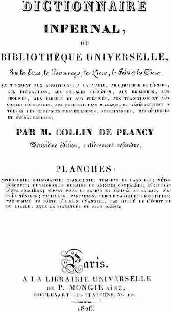 Dictionnaire Infernal, έκδοση του 1826