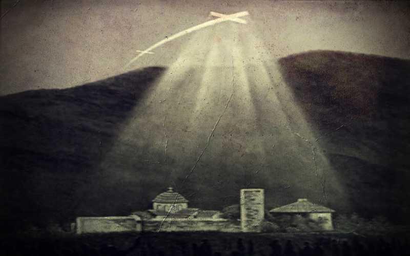 Εμφάνιση φωτεινού Σταυρού πάνω από μοναστήρι του Υμηττού, το 1925...