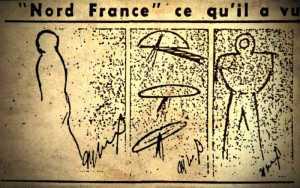 Ιπτάμενα αντικείμενα πάνω από ολόκληρη τη Γαλλία, το 1954...