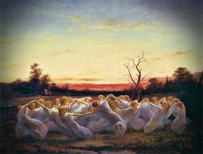 """""""Ξωτικά των Λιβαδιών"""", πίνακας του Νιλς Μπλομέρ"""