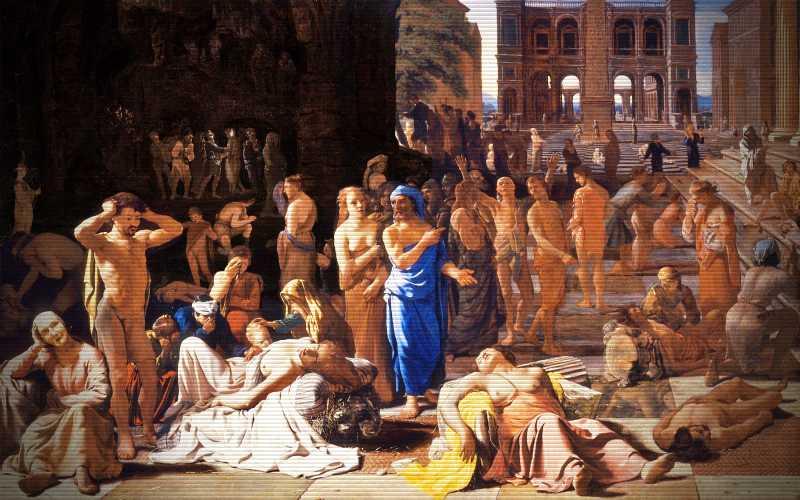 Ο φονικός λοιμός της Αθήνας, το 429 π.Χ...