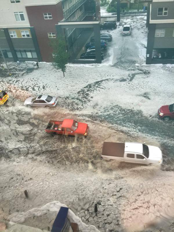 Freak hailstorm hits Calgary in photos and videos ...