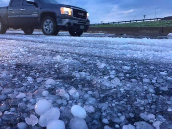 Freak hailstorm destroys Fort Worth, Texas - Strange Sounds
