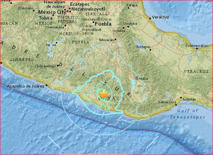 strong earthquake mexico june 2016