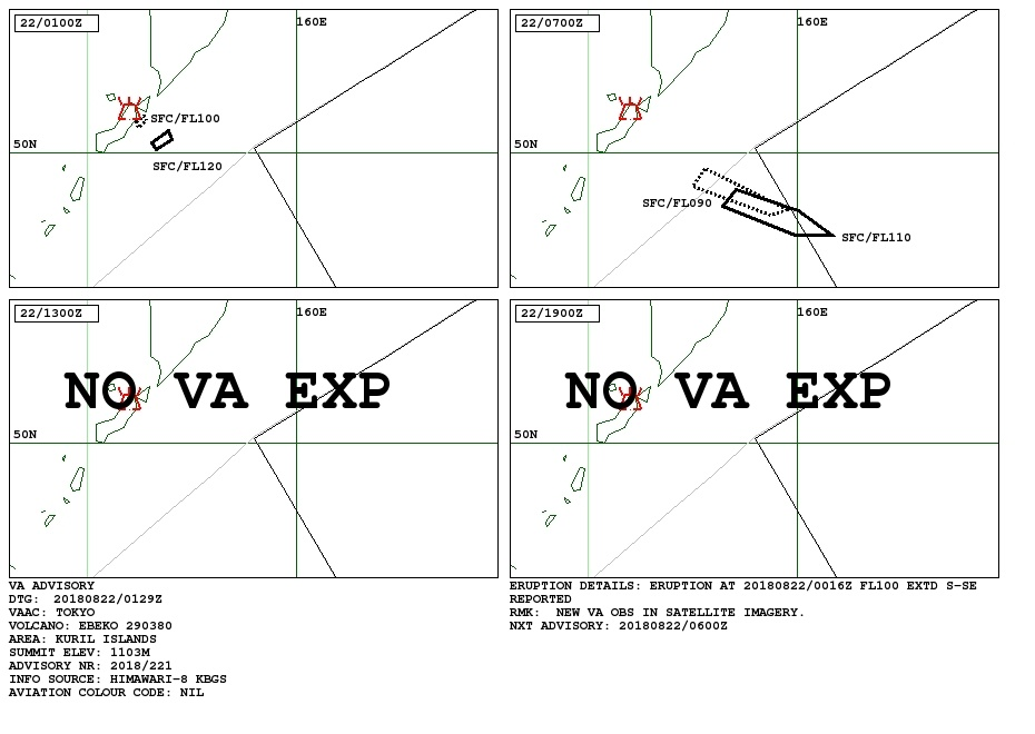 ebeko volcano eruption august 21 2018
