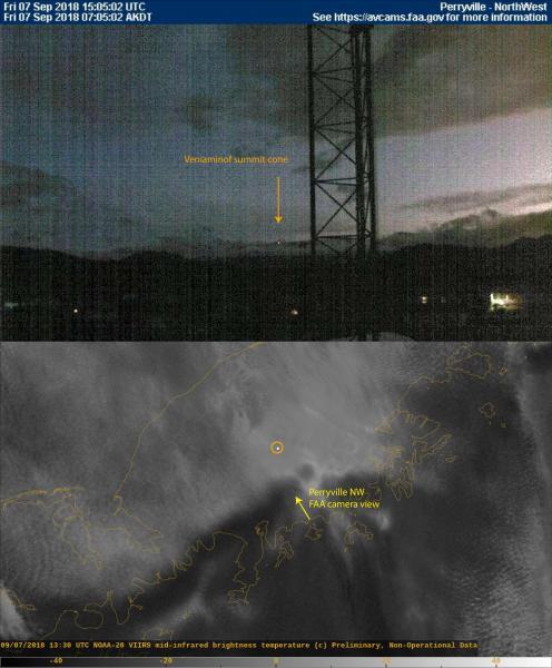 Veniaminof Volcano, Veniaminof Volcano eruption, Veniaminof Volcano eruption september 2018