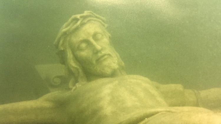 jesus christ statue lake michigan, jesus christ statue lake michigan petoskey, jesus christ statue lake michigan video, jesus christ statue lake michigan picture