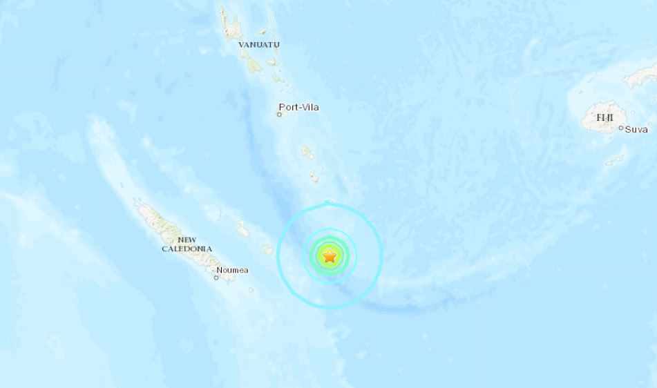 M6.3 earthquake off New Caledonia on May 19 2019, M6.3 earthquake off New Caledonia on May 19 2019 map