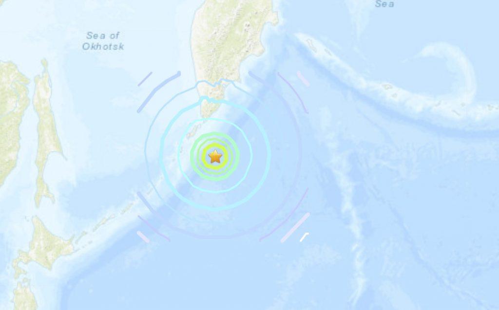 M7.5 earthquake russia march 25 2020, M7.5 earthquake russia march 25 2020 map, M7.5 earthquake hit 219km SSE of Severo-Kuril'sk, Russia, 2020-03-25, 02:49:21 (UTC), 48.986°N 157.693°E at 56.7 km depth